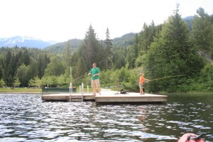 Family Fishing at Whistler