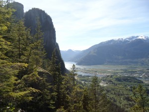Overlooking Squamish from top of the Chief
