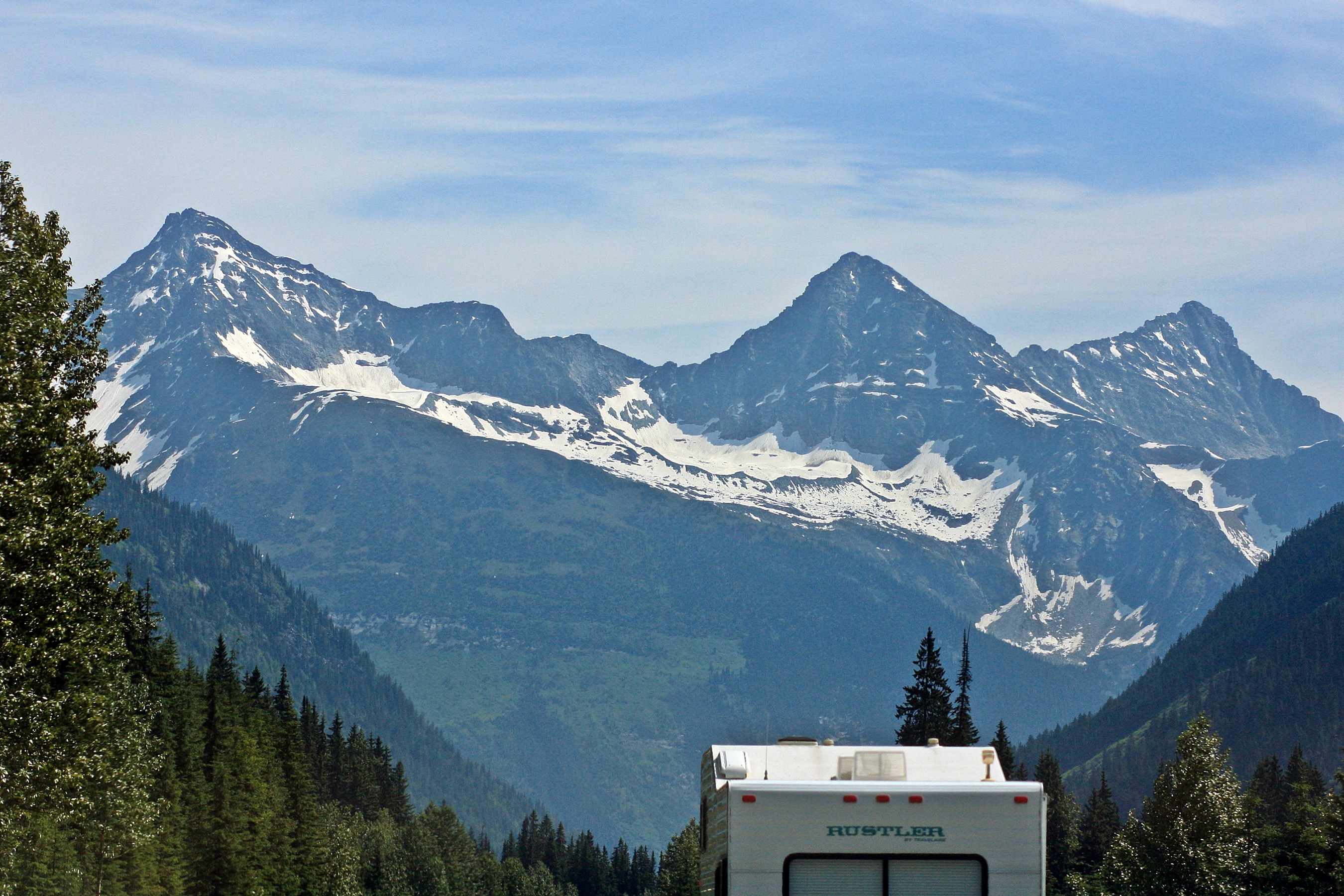 RV travelling in British Columbia