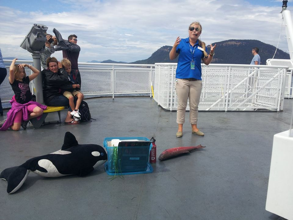 Parks Canada Coastal Naturalist gives marine presentation on BC Ferry