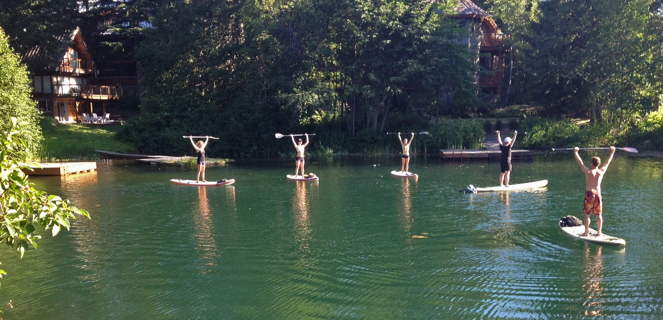 SUP Yoga Class on Alta Lake