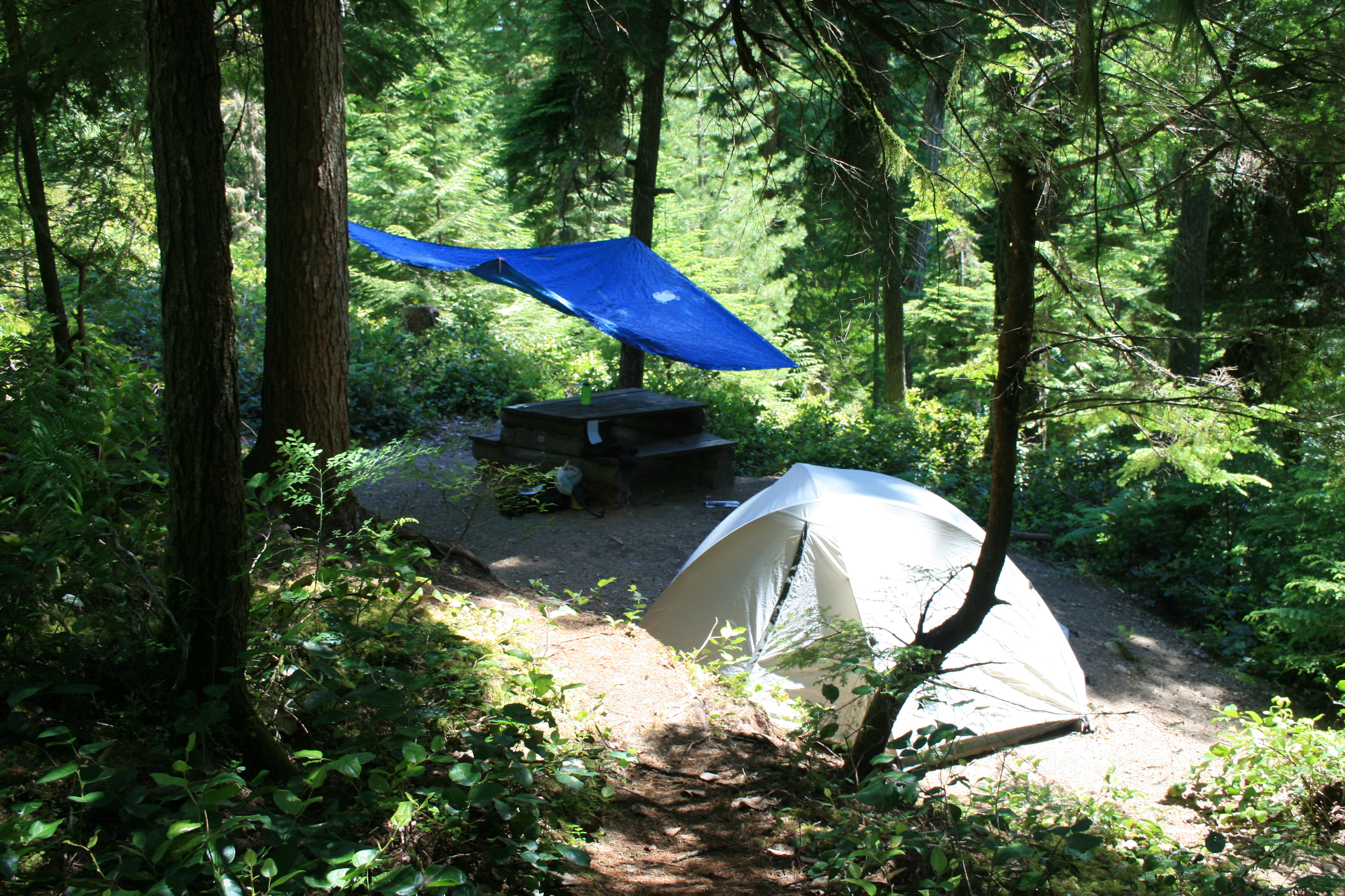 Camping At Cat Lake In The Paradise Valley Near Squamish