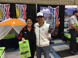 BC Alley in Edmonton RV Show Anne (BCLCA) & Edward Yeh MamaYeh