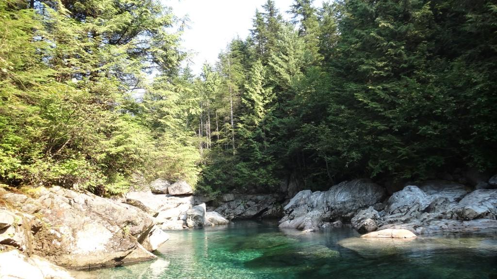 Swimming area at Widgeon falls