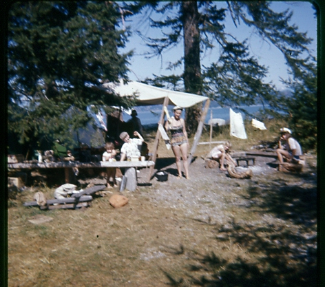 Pictures of tents in 1965