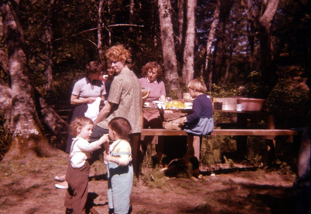 An old picture taken from 1959 during a camping trip at Englishman River