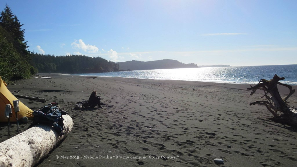 Sandy beach at Cape Scott