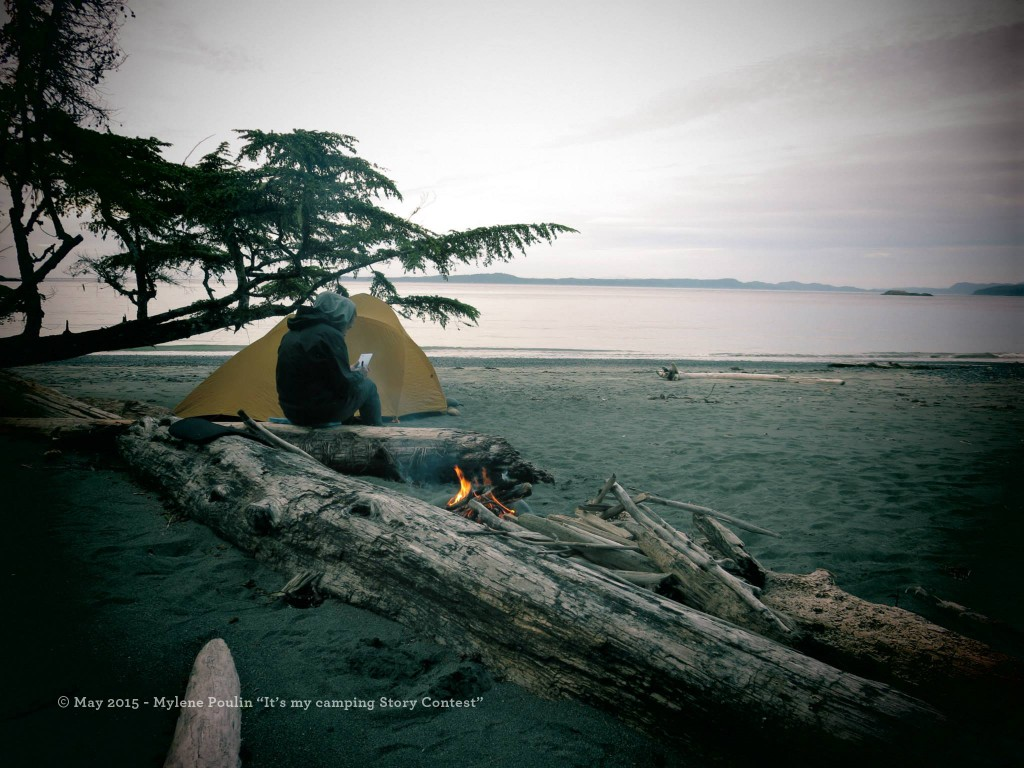 tent camping at Cape Scott provincial park
