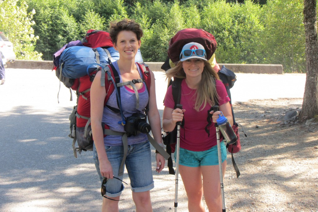two women on a hike