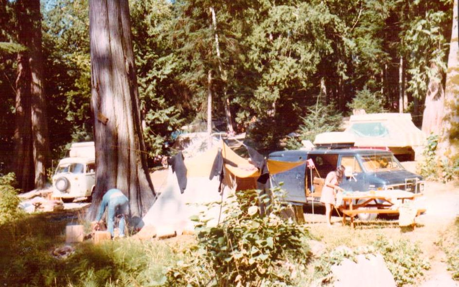 camping picture from a long time ago