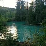 The milky green Tseax River