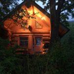 Legacy Cabin at Dusk