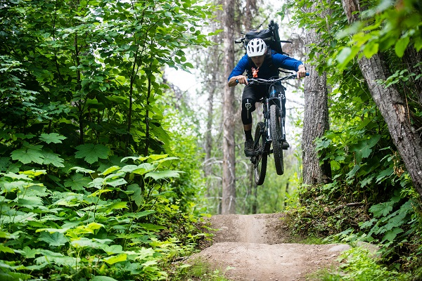 Mountain Biker Catches Some Air