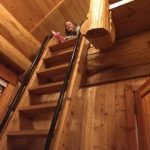 In the loft of the Legacy Cabin