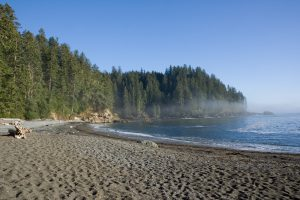Vancouver Island Bay off Juan de Fuca Trail by Ikiwaner