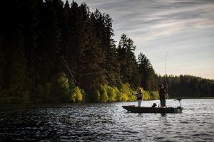 Fishing on Fawn Lake, Fishing Highway 24. Photo: Destination BC/Blake Jorgenson