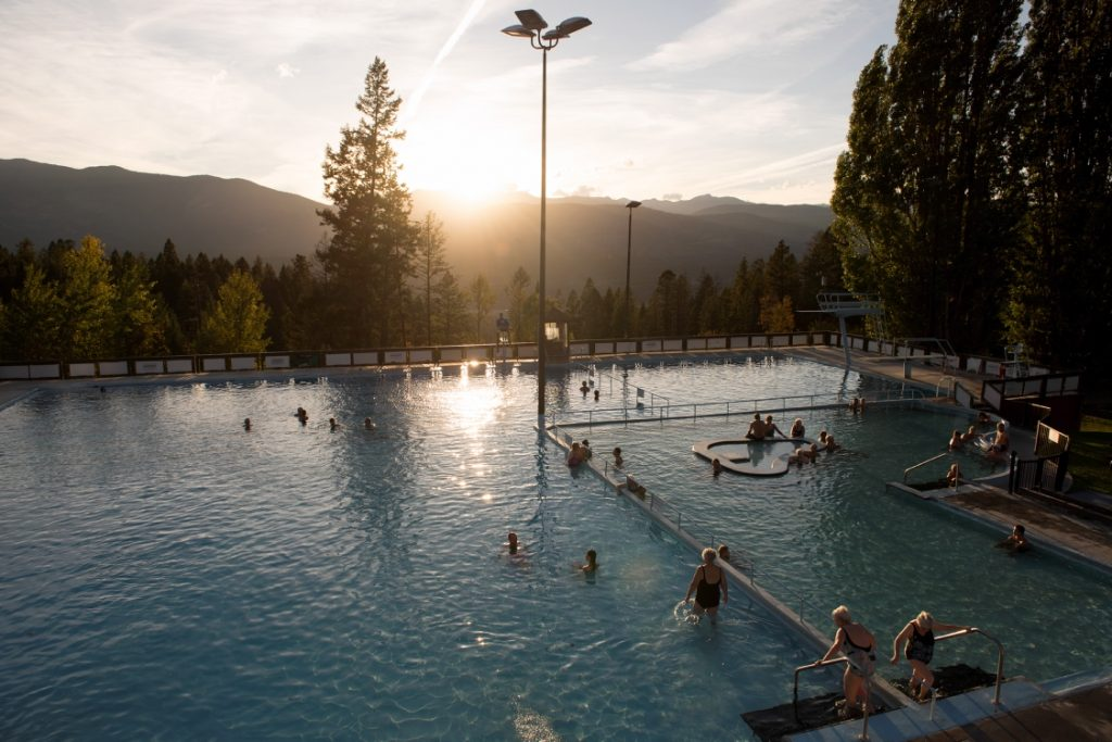 Fairmont Hot Springs Resort hot pools by Destination BC/Kari Medig