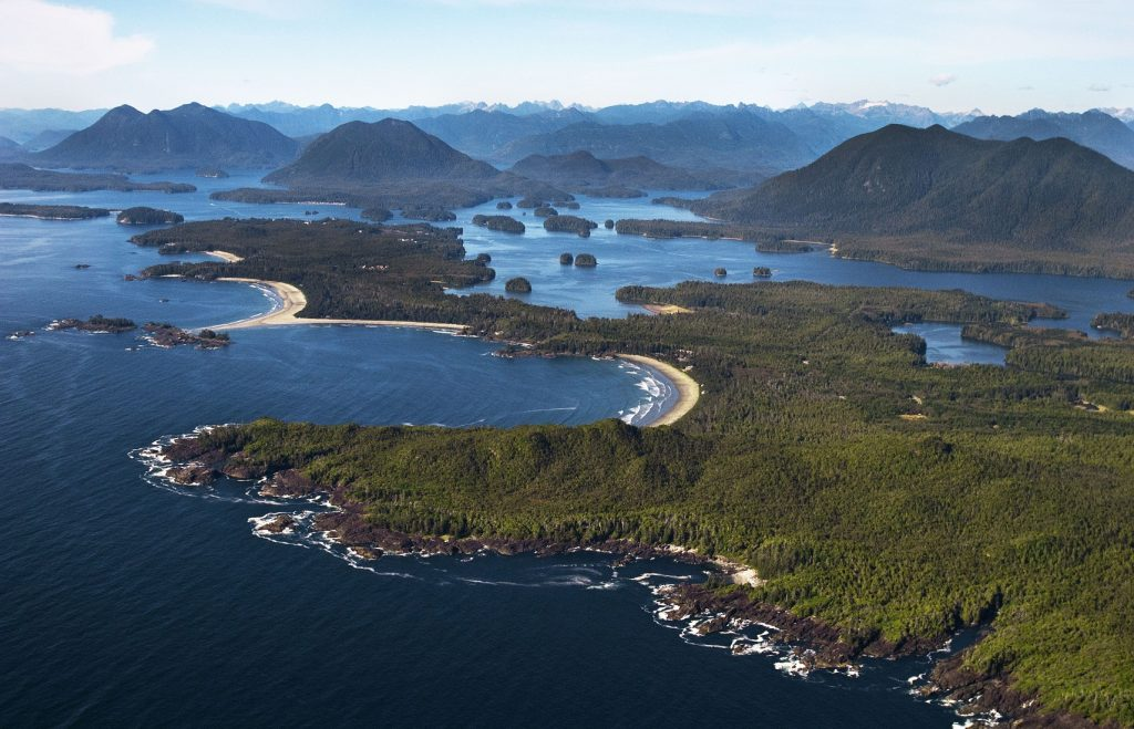 Aerial of Clayoquot Sound | Photo: Todd Byrnes