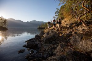 Hiking in Harmony Islands, Sunshine Coast. Photo: Destination BC/Albert Normandin