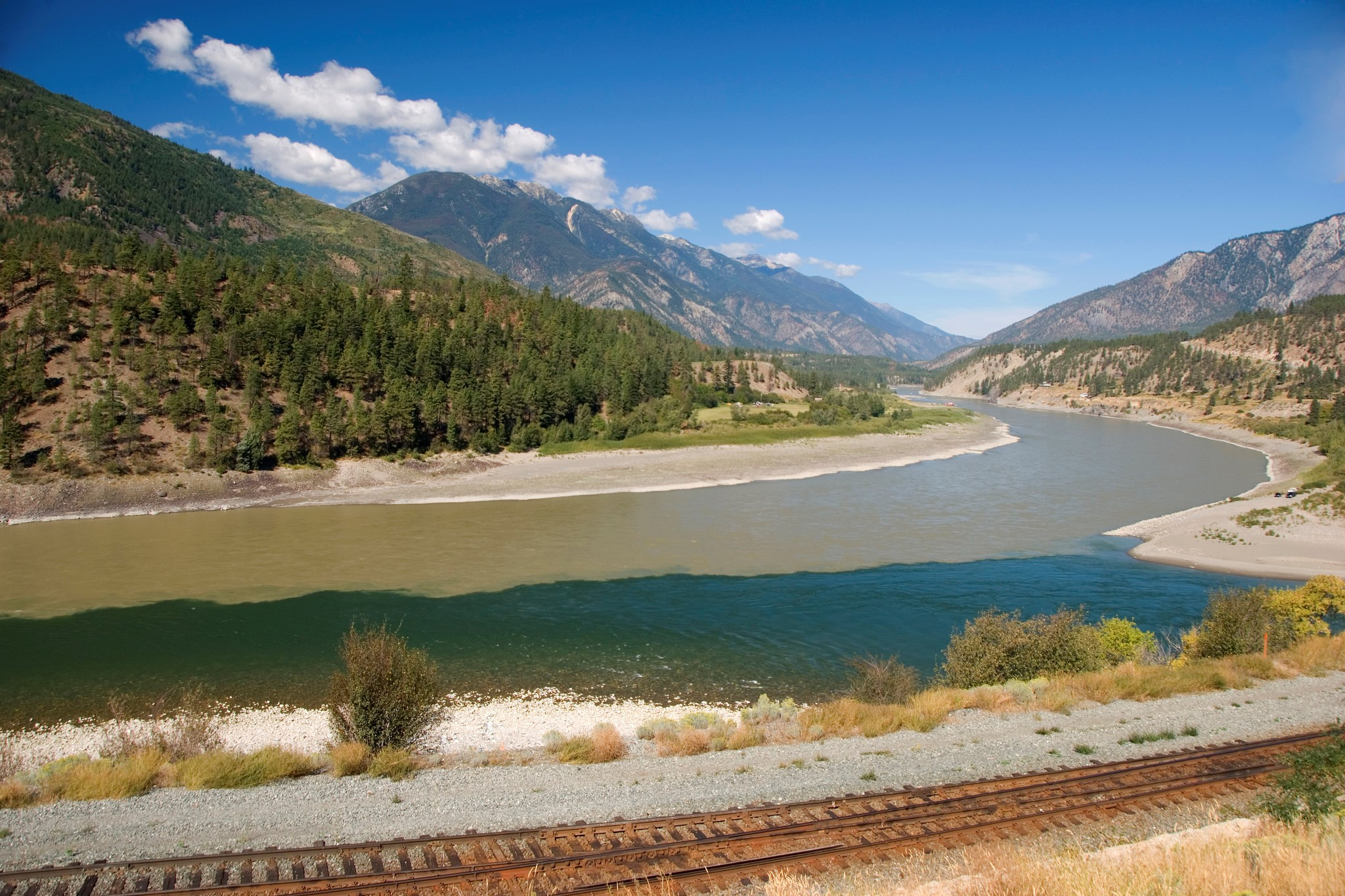 The meeting of the Fraser and Thompson Rivers in Lytton | Photo: Province of British Columbia