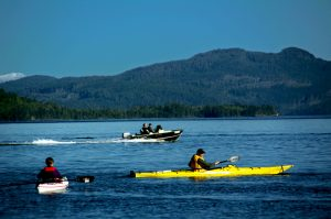 Boating near Sayward. Photo: Picture BC/Province of British Columbia