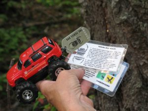 Travel Bug Found at Nairn Falls Campground
