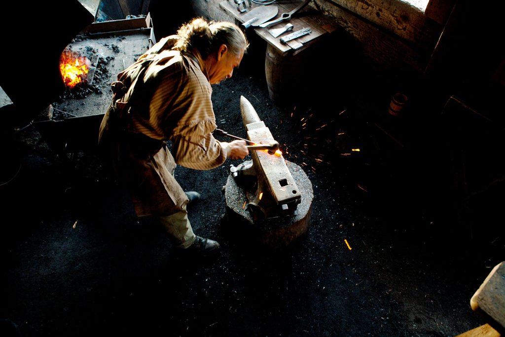 blacksmith-at-fort-langley-nationaBlacksmith at Fort Langley National Historic Park. Photo: Parks Canada/M. Boland