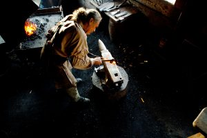 Blacksmith at Fort Langley National Historic Park. Photo: Parks Canada/M. Boland