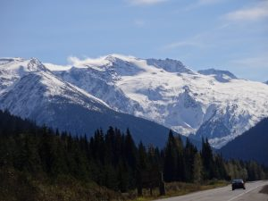 On the Trans Canada Highway in Glacier National Park. Photo: B. Pavey