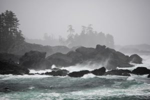 Storm Watching near Amphitrite Lighthouse, Ucluelet. Photo: DBC/Boomer Jerritt