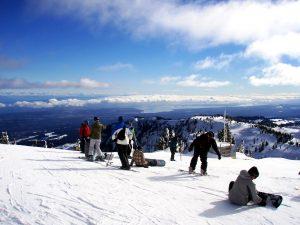 Ocean View Skiing at Mt. Washington, BC
