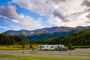 Camping near Iskut
