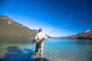 Fishing on Muncho Lake