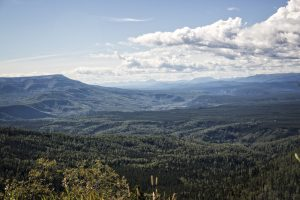 Looking out from Steamboat - between Fort Nelson and Stone Mtn