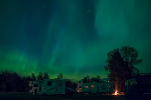 Northern Lights from Ksan Campground in the Hazeltons