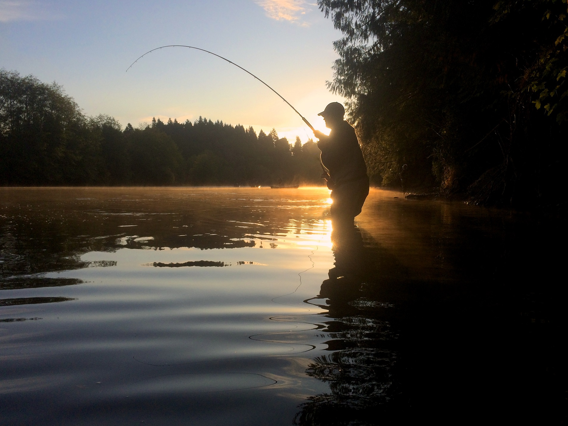 Fishing on the Stamp River, Port Alberni