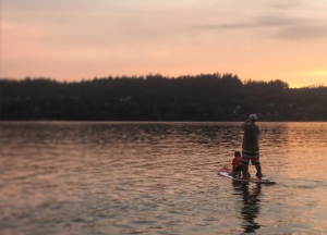 Paddleboarding Porpoise Bay. Photo: Mary Ann Bell