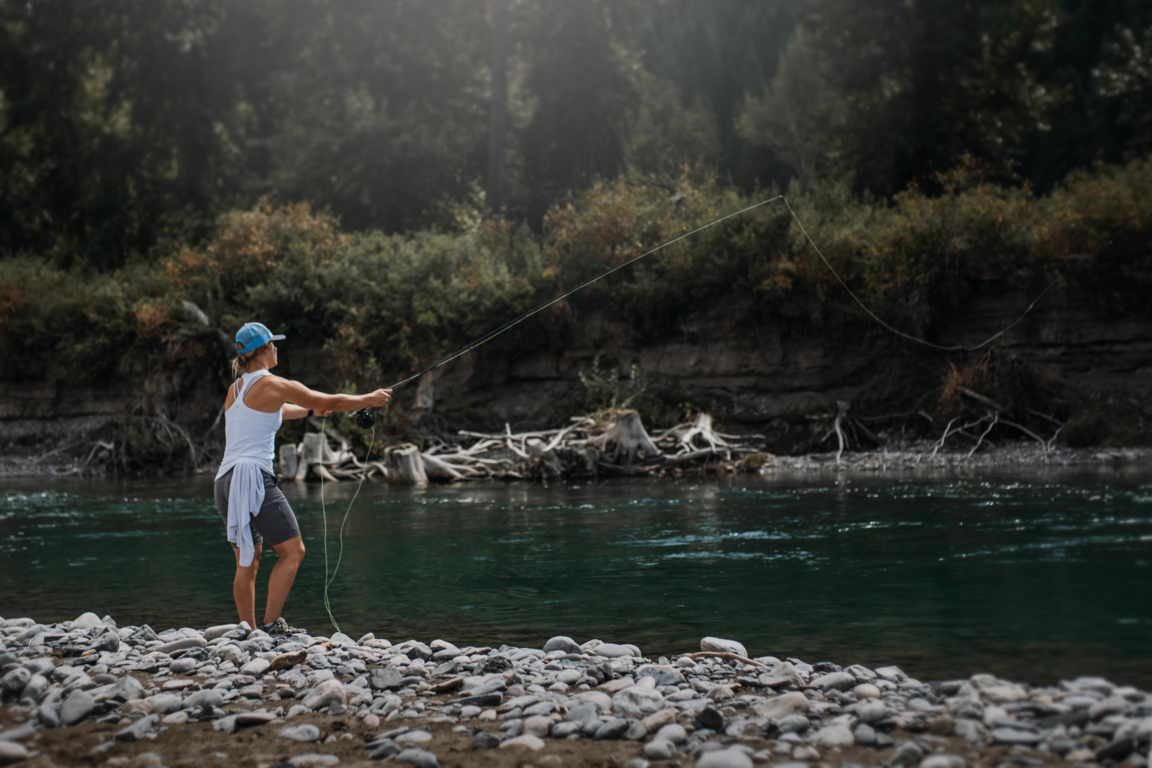 Try Fishing While Camping This Year. Photo: Lacey Pukas for Freshwater Fisheries Society