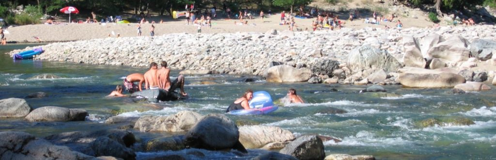 Floating on the Similkameen River at Bromley Rock