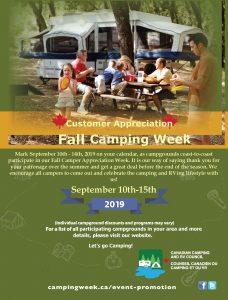 Fall Camping Appreciation Week 2019