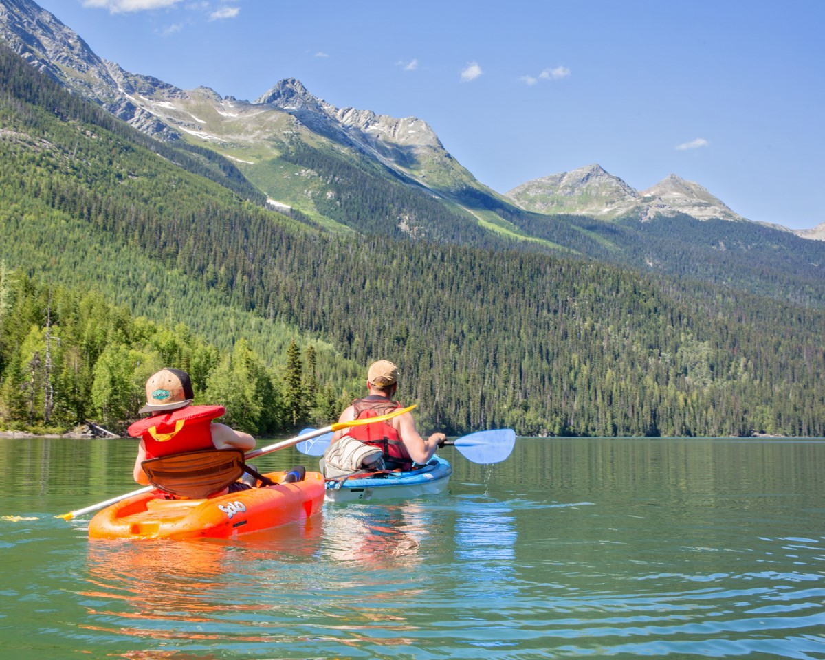 Kayaking on Ghost Lake, Cariboo