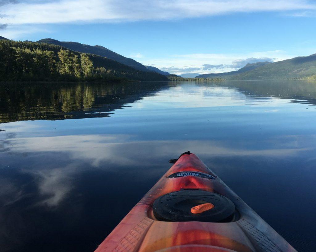 Kayaking on Canim River