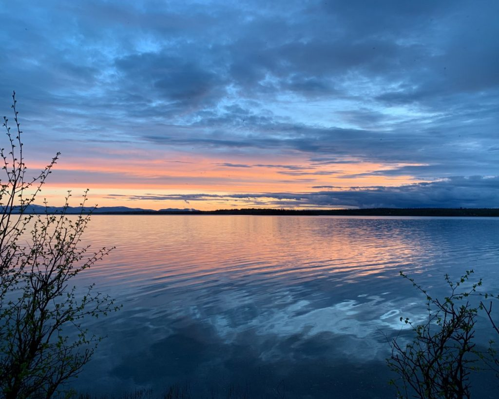 Sunset over Green Lake, Cariboo
