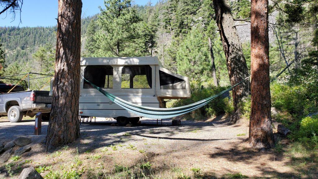 Campsite at Bromley Rock Provincial Park, Similkameen