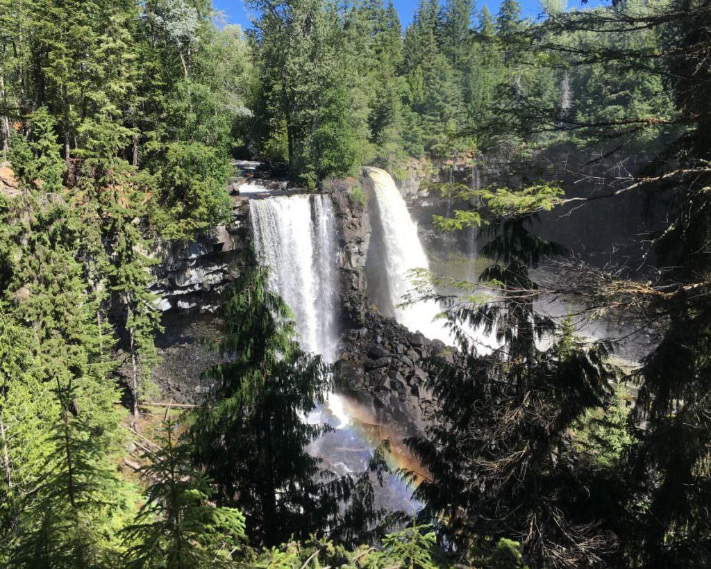 Canim Falls from Mahood Falls Trail