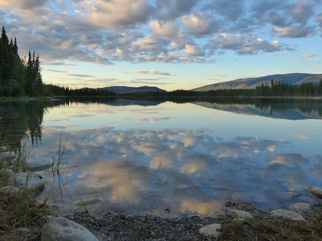 Boya Lake, Northern BC sunset