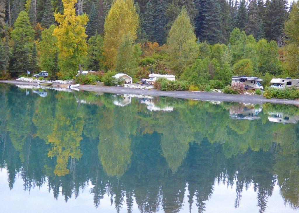 Fall at Meziadin Lake