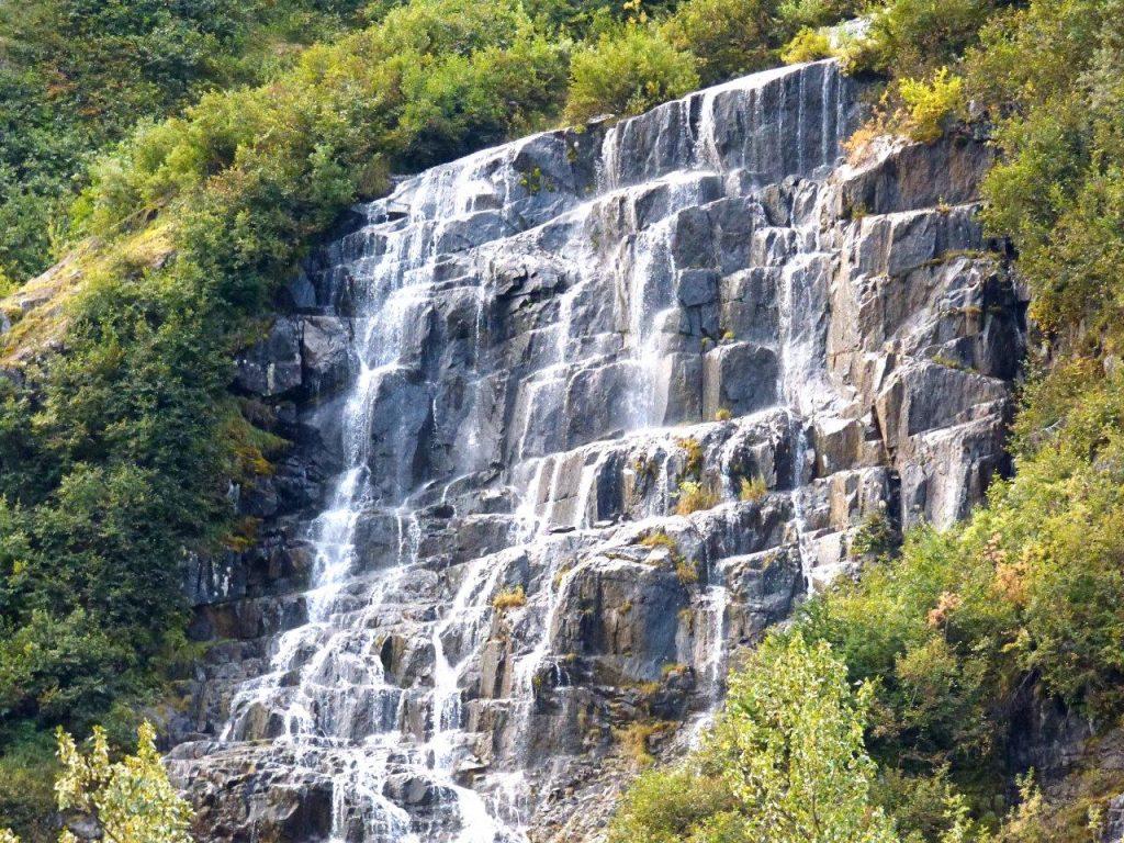Waterfalls veil near Stewart