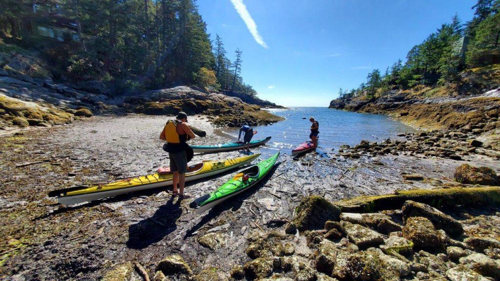 Kayaking from Porpoise Bay