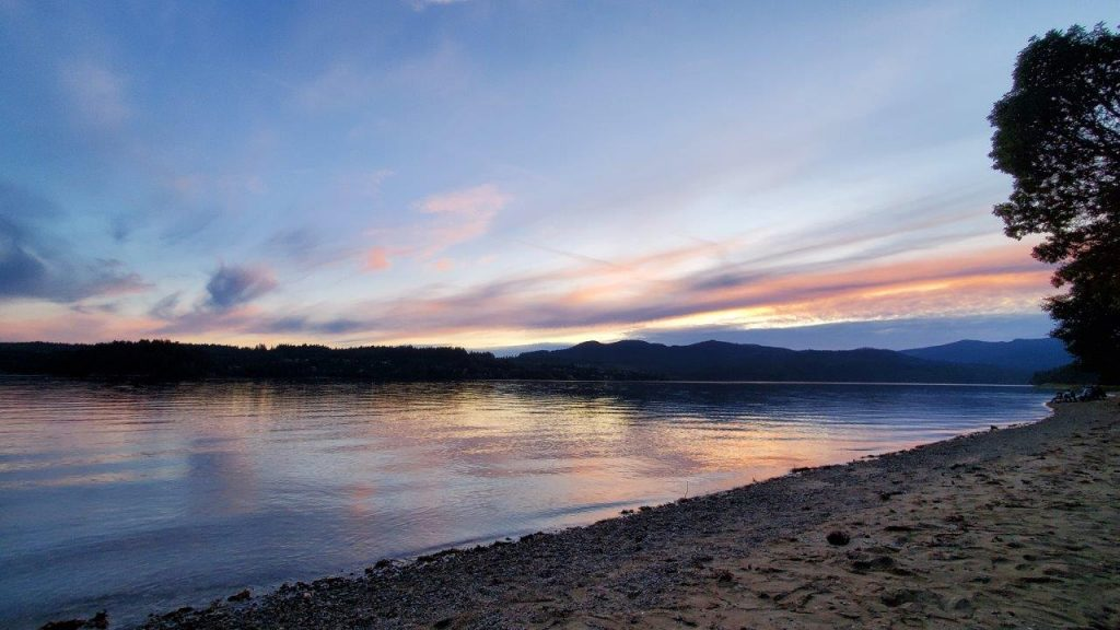 Sundown at Porpoise Bay Provincial Park